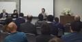 第64回口頭弁論期日後の報告集会で発言する小池真紀子さん