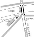 アパホテル肥後橋への地図