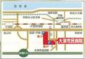 大津市民病院への地図