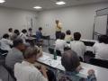 7/26勉強会風景 会長の挨拶